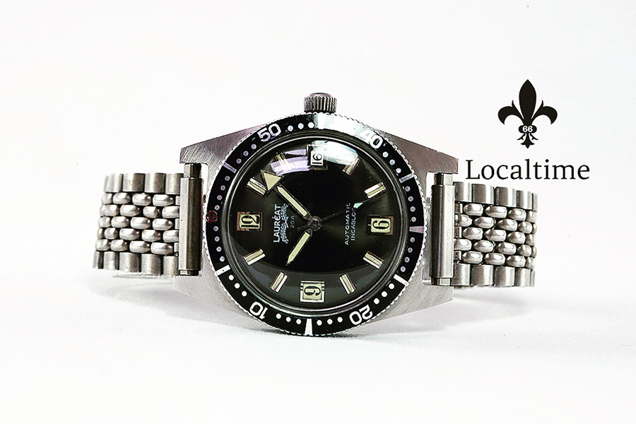 1960's LAUREAT (Belgium) Vintage Steel 200m Diver Watch Automatic 25j PUW Cal. 1361