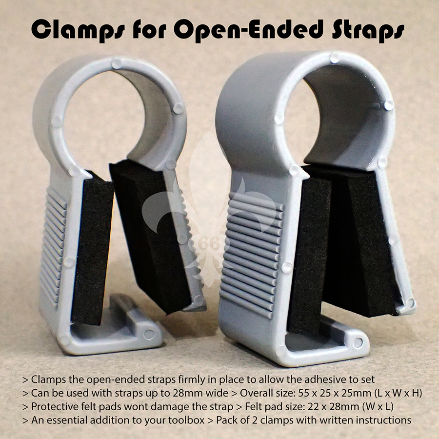 Box Set 2 Clamps To Secure Together Adhesive Open-Ended Watch Straps Tool Part
