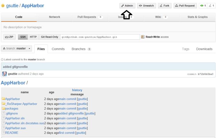 GitHub Admin Link