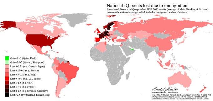 carte qi perte différencielle immigration