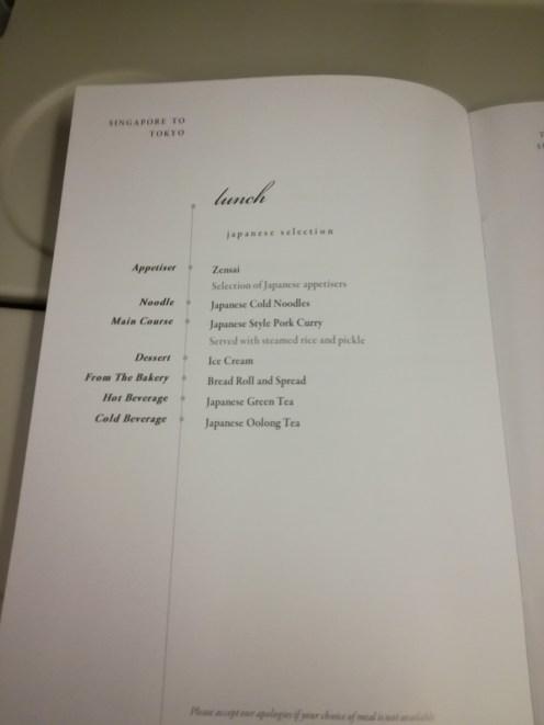The Asian menu