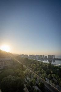 Levé du soleil à Malaga Espagne