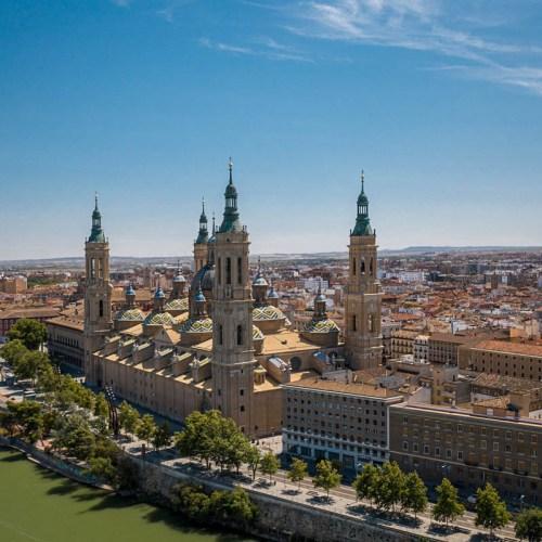 Saragosse vu du ciel Espagne
