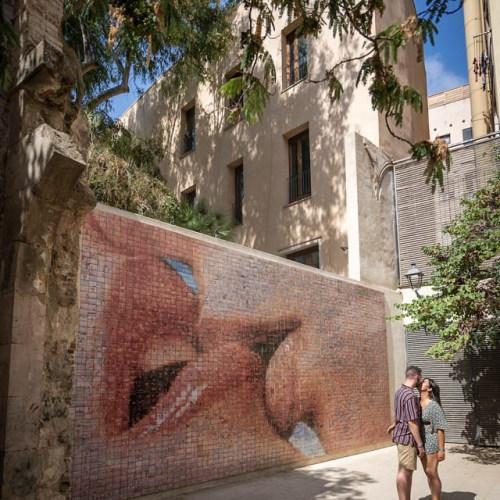 Street Art baisé à Barcelone espagne