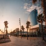 Levé du soleil à Barcelone