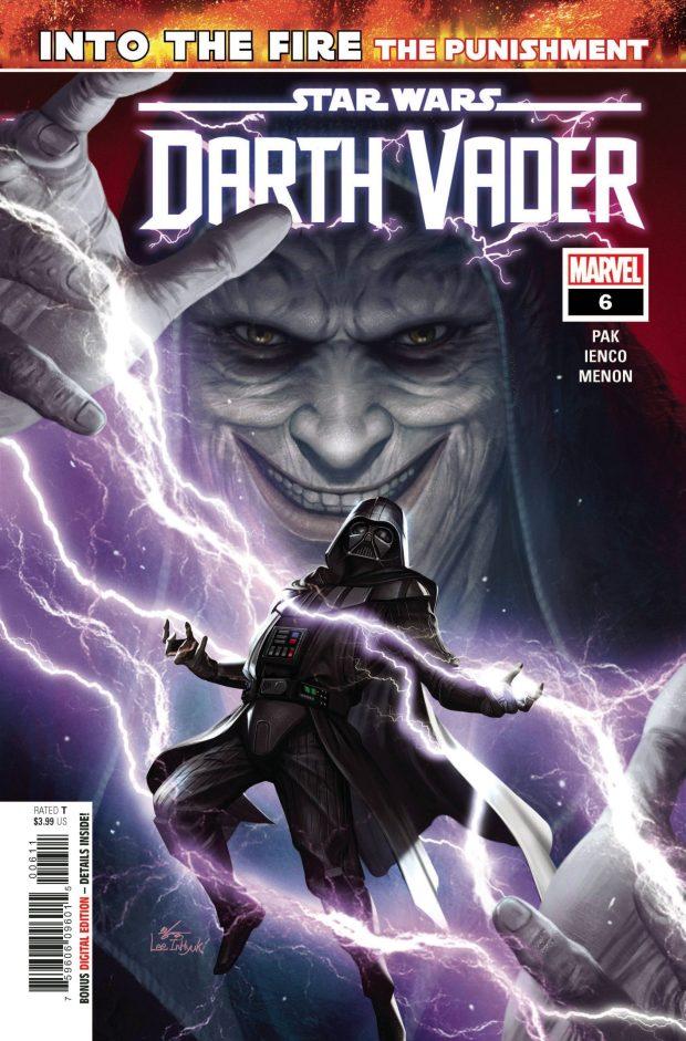 STAR WARS: DARTH VADER #6 cover by InHyuk Lee.