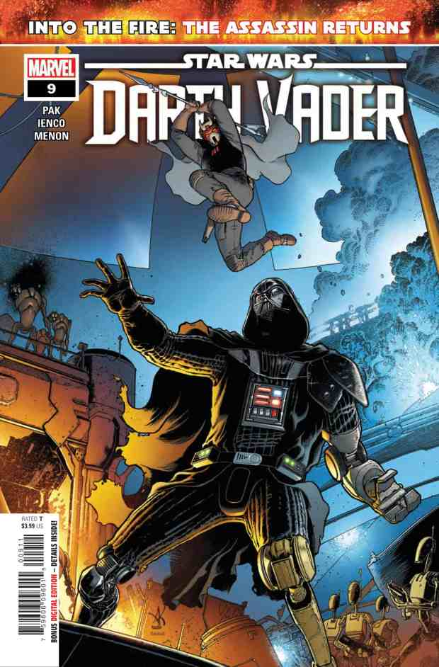 Darth Vader #9 cover by Aaron Kuder
