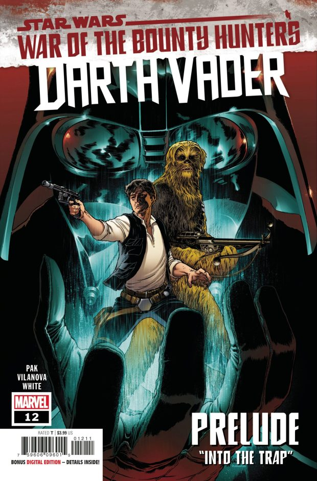 Darth Vader #12 cover by Aaron Kuder and Richard Isanove.