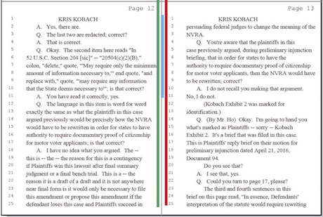 Kobach Deposition_Page s12 and 13