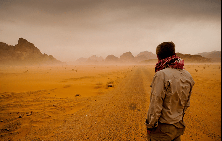 Image result for man in desert