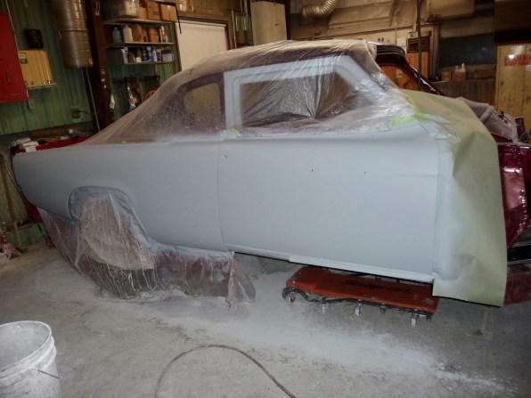 Primer surfacer, ready for block sanding