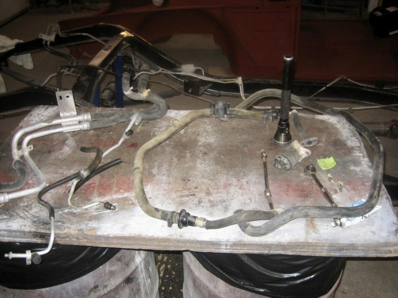 The AC, smog lines,power steering and heater water lines that need modification
