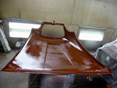 Color on the underside. I used a texture, low gloss under the hood and deck lid because they were sooo rough
