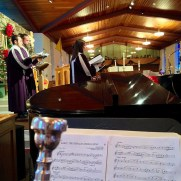 In 2015, Greg returned to Saint Joseph Roman Catholic Church for Christmas Eve services, performing with organist Lynn Trapp, harpist Peggy Houng, and the Saint Joseph Schola.