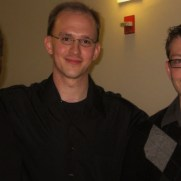 Greg was joined by drummer Chuck Ferrell (left) and bassist Kevin Pace (right) for his graduate jazz piano recital at the University of Maryland, College Park in 2008.