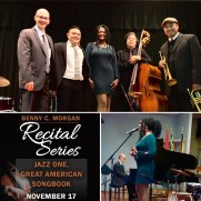 Jazz One presented a concert of standards from the Great American Songbook to finish out the Fall 2019 semester at the College of Southern Maryland. (left to right; Greg Small [piano], Nucleo Vega [drums], Deirdre Jennings [vocals], Phil Ravita [bass], Caesar Ulsano [trumpet})