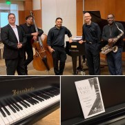 Jazz One performed on the Ward Virts Concert Series at the College of Southern Maryland in the spring of 2019, giving a concert featuring original music by members of the group. (left to right; Skip Grasso [guitar], Phil Ravita [bass], Nucleo Vega [drums], Greg Small [piano], Benny Russell [sax])