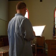 Greg returned to Ashland Presbyterian Church for Easter in 2011, performing with organist Gloria Hunt and the Ashland Chancel Choir.