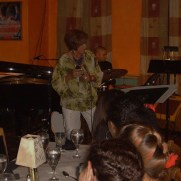 Greg performed with the Phil Ravita Band featuring vocalist Diane Hoffman at Germano's Trattoria in 2011. (left to right; Greg Small, Diane Hoffman, Nucleo Vega, Phil Ravita)