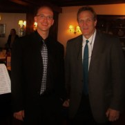 Trumpeter Chris Gekker and Greg performed a program of duets for a private event hosted by the National Philharmonic at Normandie Farm Restaurant