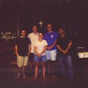 In the summer of 1999, Greg participated in the Atlantic Brass Quintet Seminar at the Boston University Tanglewood Institute. (left to right; Bill Owens [trumpet], Greg Small [trumpet], Jenny Lackey [french horn], Bruce Bertrand [trombone], Giovanni Tortolla [trombone]