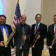 Greg joined a fantastic trumpet section to perform for the 2014 Johns Hopkins School of Advanced International Studies Commencement. (left to right; Frank Gorecki, Greg Small, Jeff Stockham, Jari Villanueva)