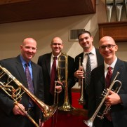 Greg joined a fantastic brass quartet to perform at an Advent Service in 2019 at Govans Presbyterian Church. (left to right; Wes Ballenger, Carmen Russo, Kevin Paul, myself. Not pictured; organist Deborah Woods, Govans Presbyterian Church Chancel Choir)