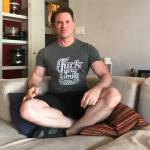 """Greg Stevens wearing """"Fuck Your Family Values"""" by Millennial Politics."""