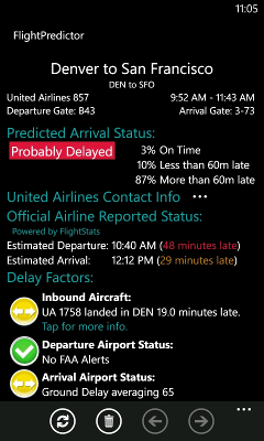 Flight information