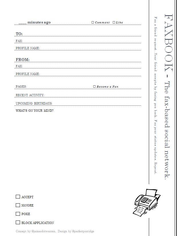 Faxbook: The Fax-Based Social Network