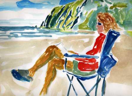 Connie Sitting on the Coast