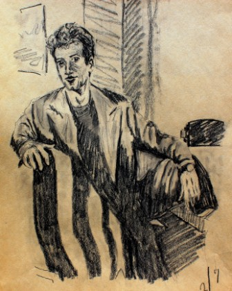Man With Striped Blanket