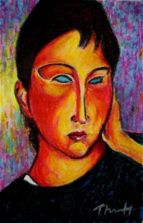 Elvira after Modigliani
