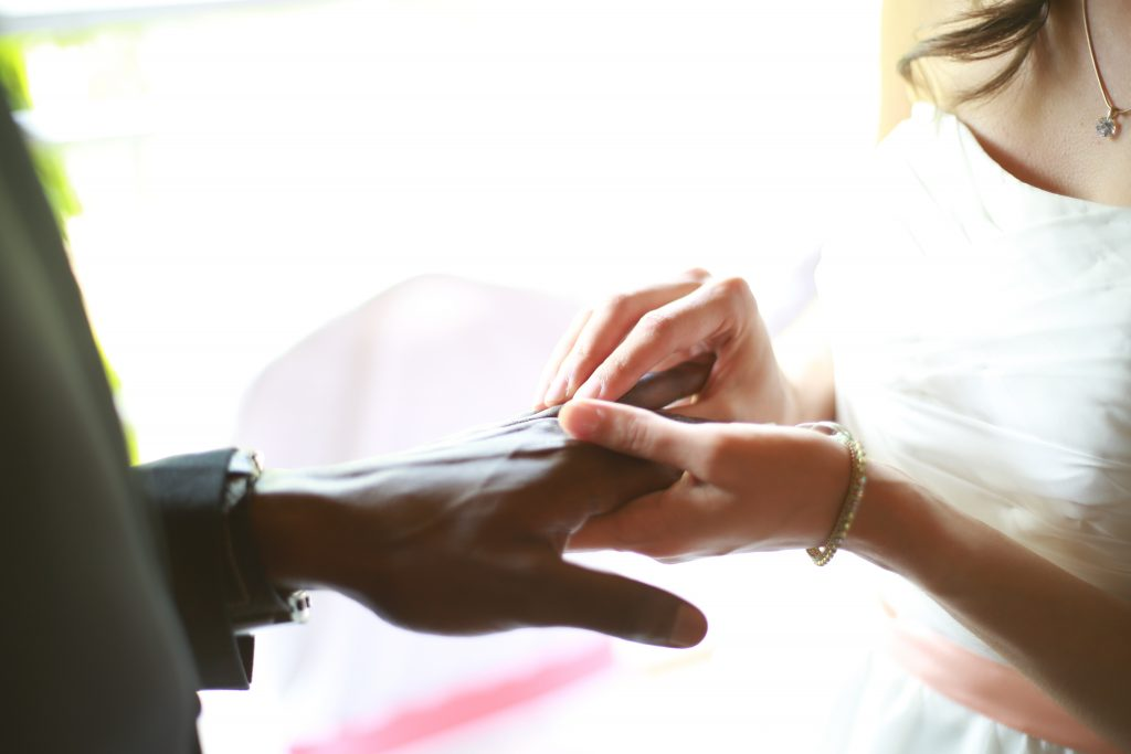 Exchanging Wedding Rings - Say I Do to Fairtrade Gold