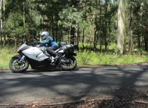A typical pose - Peter out in front on his Beemer.