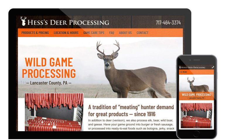 Hess's deer processing website