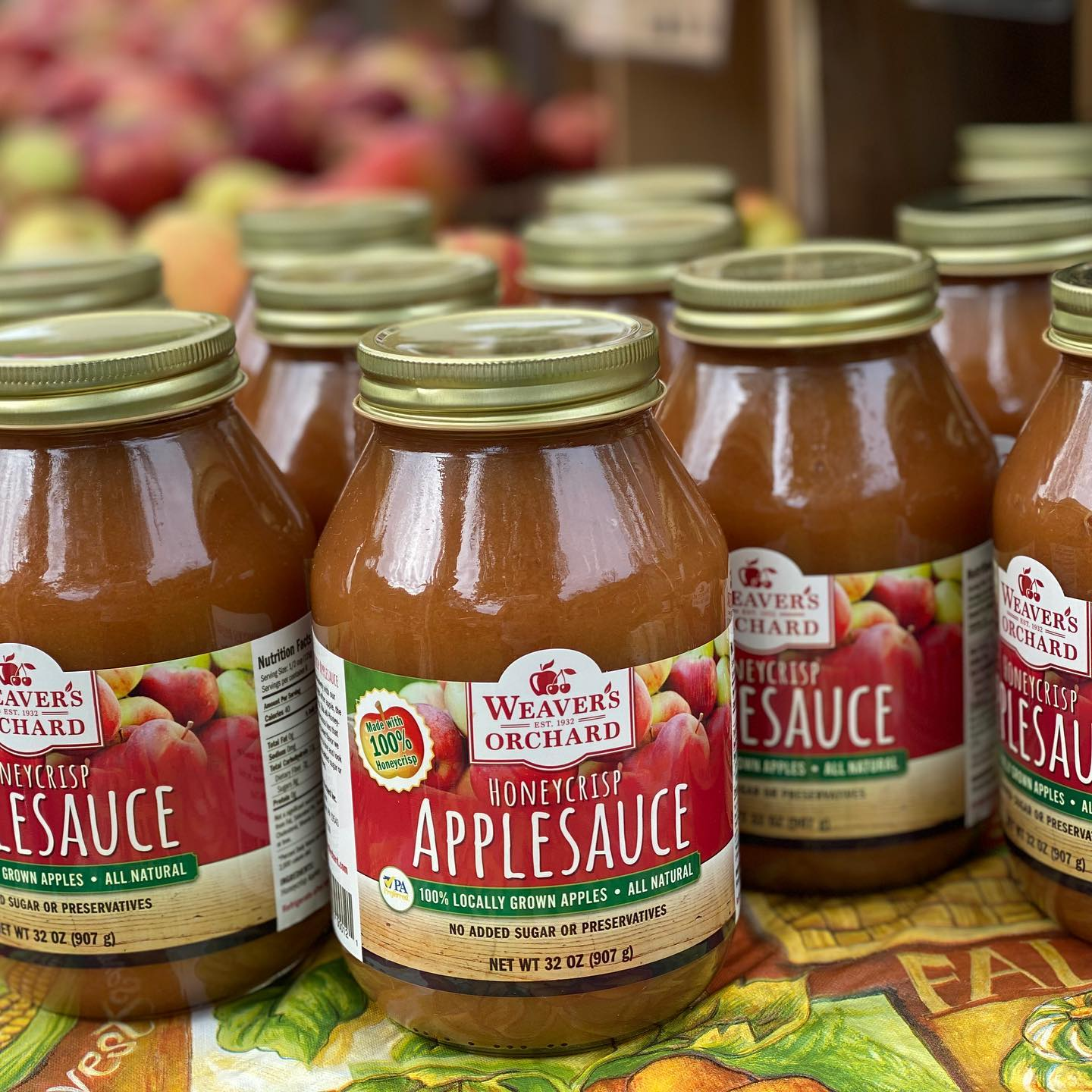 apple sauce label design