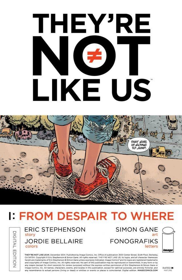 {Eric Stephenson & Simon Gane} They're Not Like Us #1