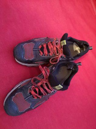 De döende skorna. De gick sju mil förra veckan.