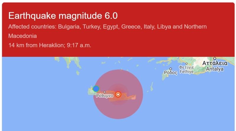 Jordbävning på Kreta