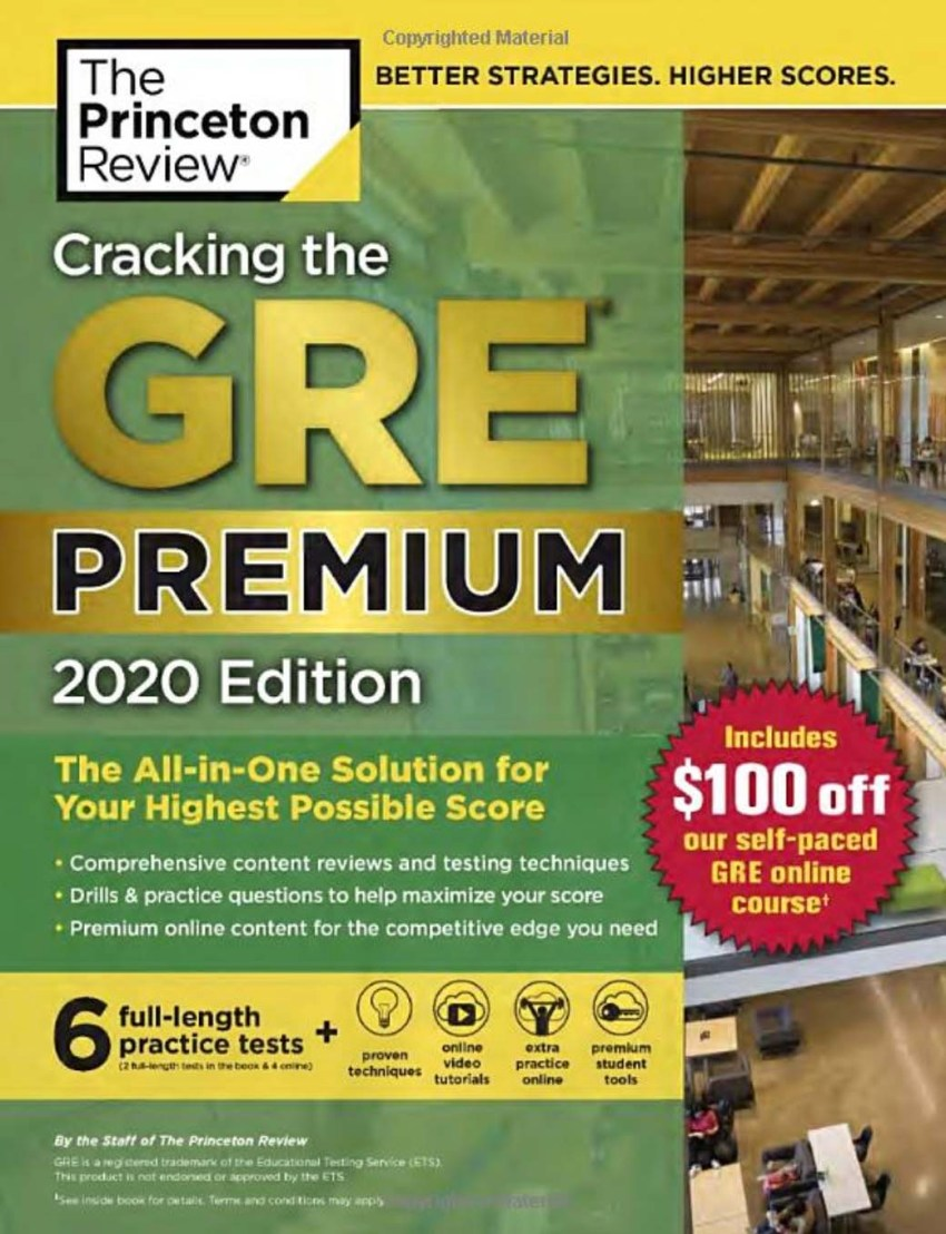 Cracking the GRE Premium 2020