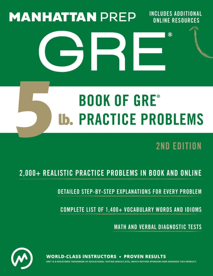 MANHATTAN PREP 5 lb. Book of GRE® Practice Problems