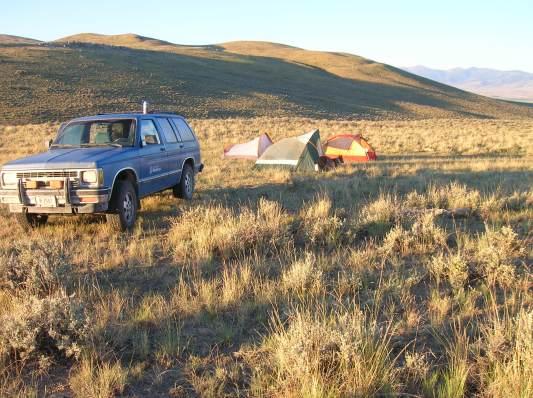 Camping at Sheep Corral Gulch, MT