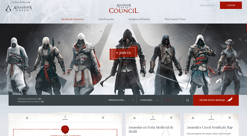 AC: The Council homepage