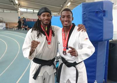 Winning Silver and Bronze at the UTF Masters Championships, London April 2019 - Fronzie and Rowan