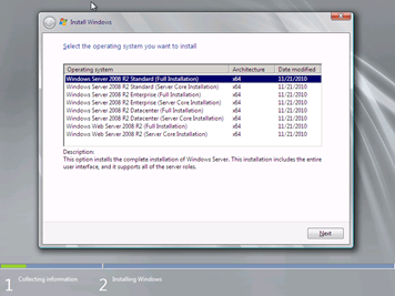 Instalación de Windows Server 2008 R2 with Service Pack 1 (4/6)