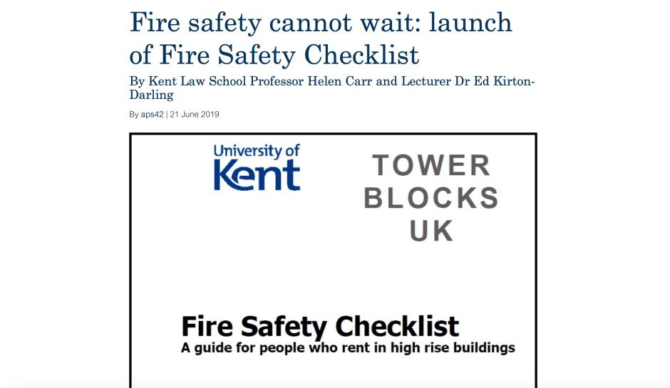 Fire Safety Checklist Blog