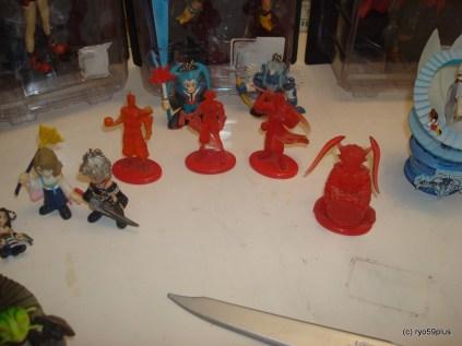 square figurines 3 FF10 coca