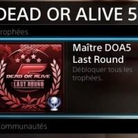 [Trophee]Platine 119:Dead Or Alive 5 Last round
