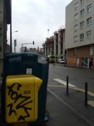 Pas d'arbres mais du street art à côté du béton des Verts/Rouges